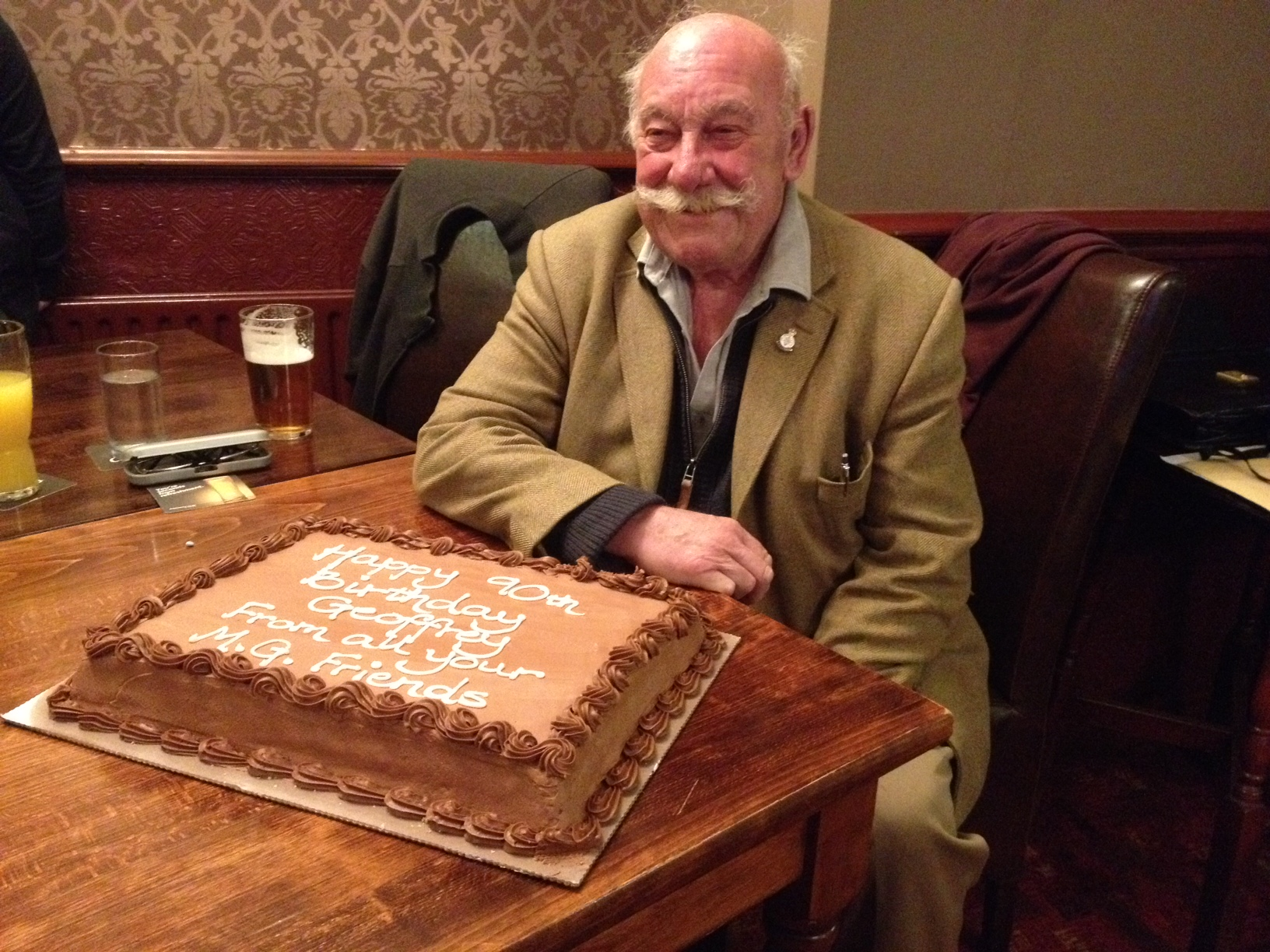 Geoffrey Wilson & 90th Birthday Cake