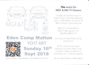 MGF&TF GO NORTH @ Eden Camp | Old Malton | England | United Kingdom