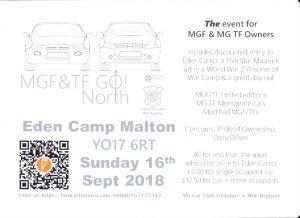 MGF&TF GO NORTH @ Eden Camp | Old Malton | England | United Kingdom
